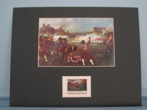 The Battles of Lexington & Concord honored by Stamp issued for 200th AnniversaryReenactment & Reproductions - 156378