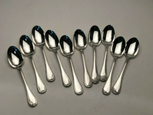 """Malmaison by Christofle France Silverplate set of 10 Demitasse Spoons 4"""""""