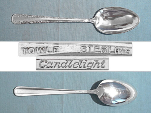 TOWLE STERLING SERVING SPOON ~ CANDLELIGHT ~ NO MONO