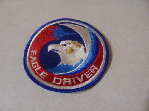 Patch Sew On Older Eagle Driver 4 Inches Round