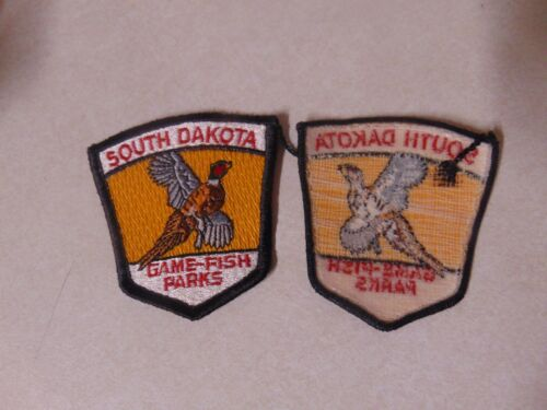 Patch Sew On Older South Dakota Game Fish Parks 3 Inches