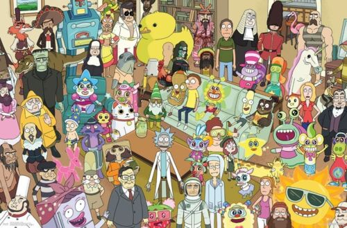RICK AND MORTY - CHARACTER COLLAGE POSTER 22x34 - TV SHOW 15461