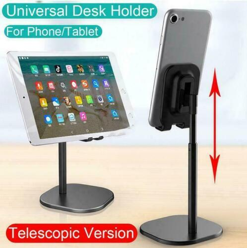 For Apple iPad Universal Metal Telescopic Phone Holder Desk Stand Samsung UpDown