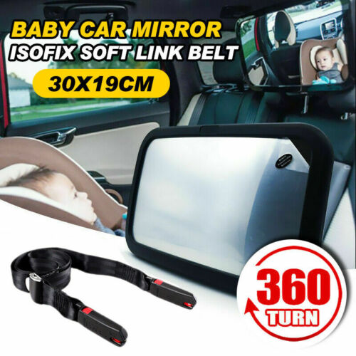 Car Baby Seat Inside Mirror View Back Isofix Latch Link Belt Safety Safe Strap