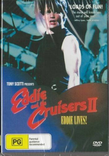 EDDIE AND THE CRUISERS 2 - EDDIE LIVES - NEW & SEALED DVD - FREE LOCAL POST