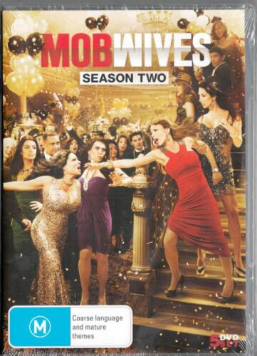 MOB WIVES SEASON 2 - NEW & SEALED DVD - 5 DVD SET- FREE LOCAL POST