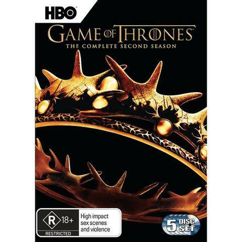 Game Of Thrones : Season 2 (DVD, 2018, 5-Disc Set) (Never Been Watched)