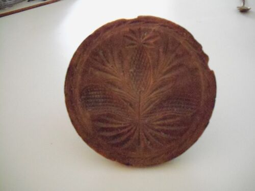 Antique Carved Butter Print,  5 inch. Pineapple