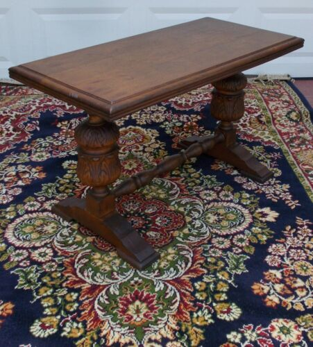 masive antique  oak french coffee table  library / monastery  style  table