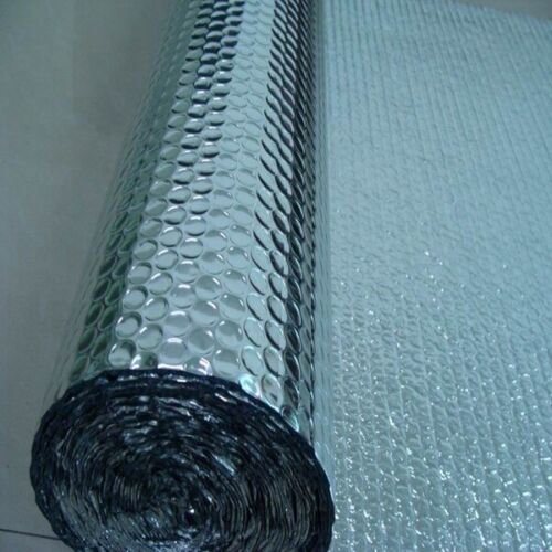 Foil Bubble Wrap Metalised Insulation Bubble Cushioning Wrap 500mm x 5m