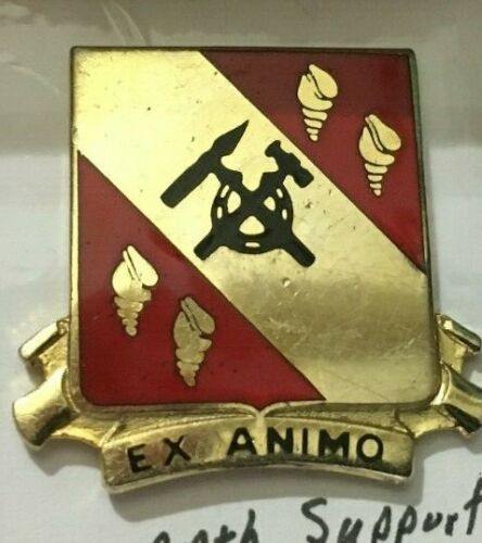 """US ARMY DUI PIN """"27th  SUPPORT BATTALION """" EX ANIMOArmy - 66529"""