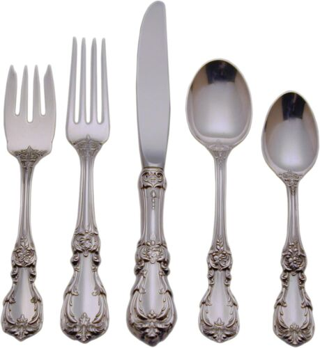 Burgundy Sterling Silver by Reed & Barton, 5pc Place Setting, factory brand New