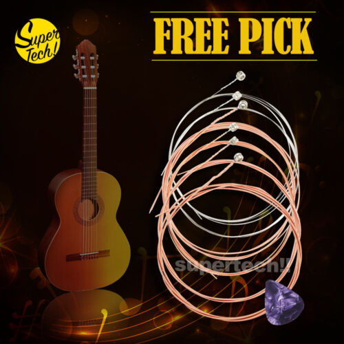 Classic Acoustic Guitar Strings Steel Premium Light Universal 6 Pcs For Beginner