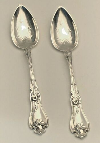 """Violet by Whiting div. of Gorham Sterling Silver pair of Fruit Spoons 5 1/8"""""""