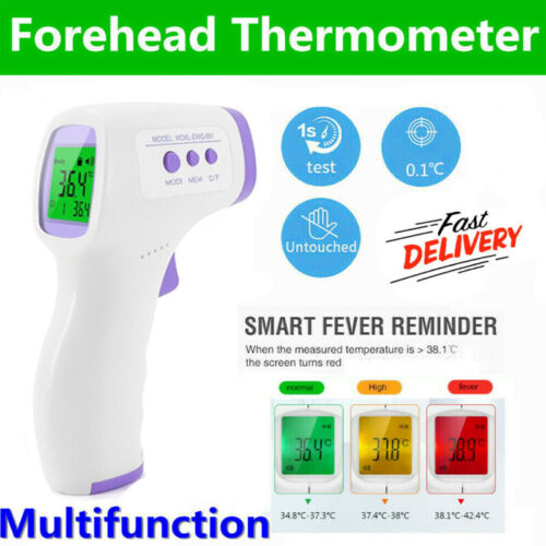 Infrared Digital Forehead Thermometer Touchless Baby Adult Temperature Gun Bodyh