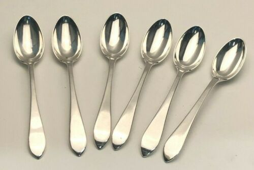 """Queen Anne by Tiffany & Co.  set of 6 Demitasse Spoons, Sterling Silver, 4 5/8"""""""