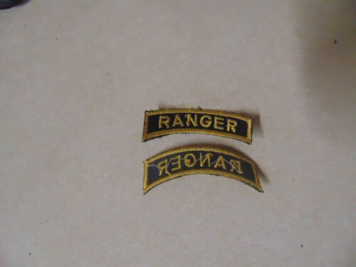 Military Patch Us Army Shoulder Tab Sew On Ranger Yellow And Black German Made