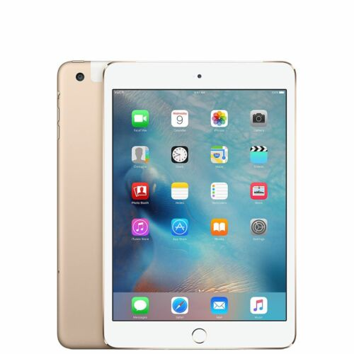 Genuine Apple iPad Mini 4th Gen 128GB WiFi Cellular GOLD