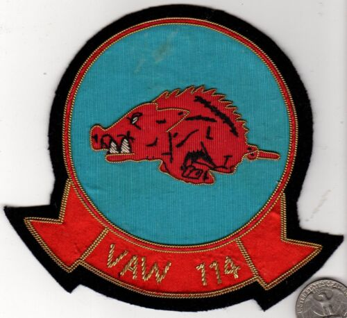 Quality Fighter Wing Squadron Patch Navy Marine Corps VAW 114 Razorback Hog BoarOriginal Period Items - 10953