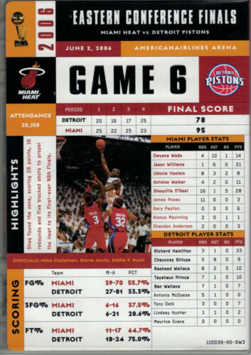 MIAMI HEAT VS DETROIT 2006 NBA EASTERN CONFERENCE FINALS GAME 6 DVD NEW COMPLETE