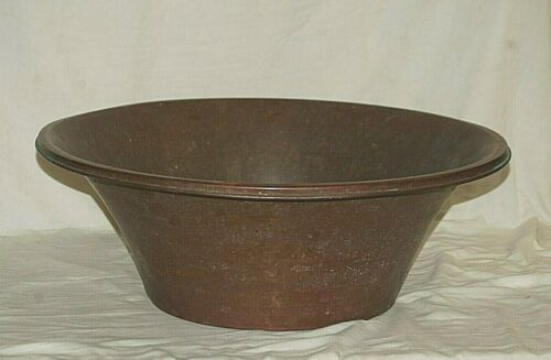 Antique Primitive Copper Wash Tub Basin Farmhouse Sink Bowl Barn Country Decor