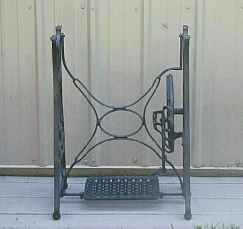 Antique Vintage Cast Iron Treadle Sewing Machine Base Table Stand Legs Steampunk