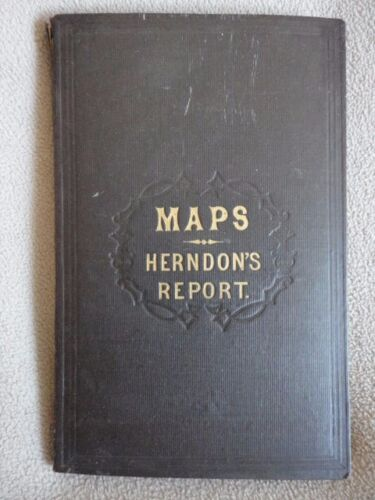 Maps Herndon's Report Valley Amazon Fold Out Spanish Peru Book Map 1800s Vintage