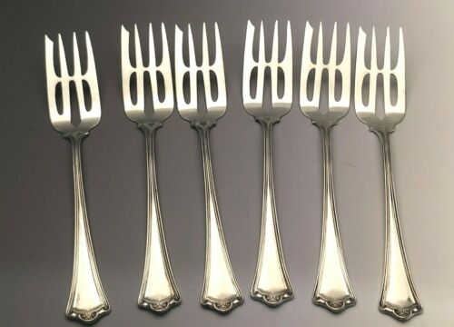 """Roanoke by Baker Manchester Sterling Silver group of 6 Pastry Forks 5.5"""""""