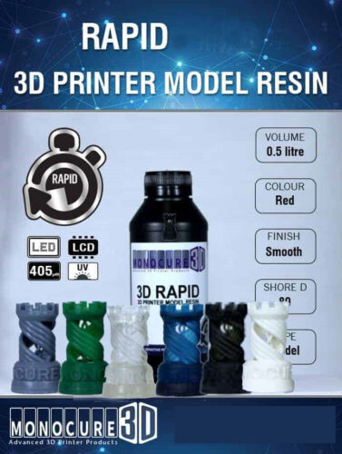 Monocure 3D Rapid Resin 0.5L - AnyCubic Compatible