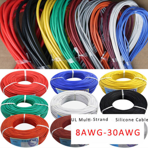 8AWG to 30AWG Flexible Silicone Câble-toutes couleurs et tailles Wire Cables