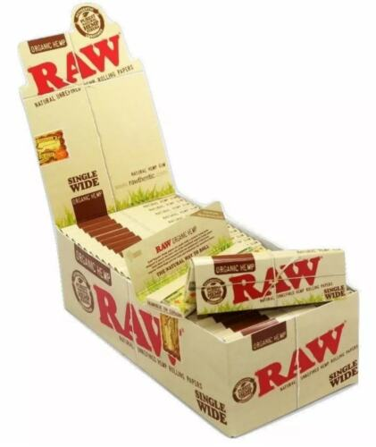 RAW ORGANIC / CLASSIC Single Wide Standard Regular Rolling Papers Natural Skins