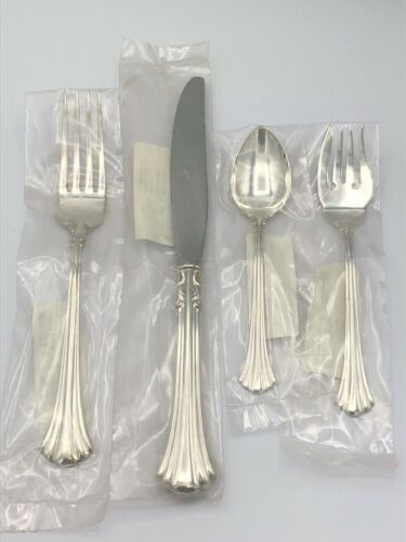 18th Century by Reed & Barton Sterling Silver 4 piece DINNER SIZE Settings, New