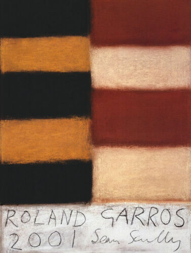 Sean Scully Roland Garros French Tennis Open 2001 Poster