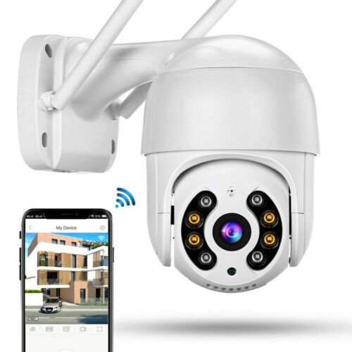 TELECAMERA IP CAM PTZ WIFI CAMERA DOME WIRELESS ESTERNO SPEED ZOOM 4MM 360 GRADI