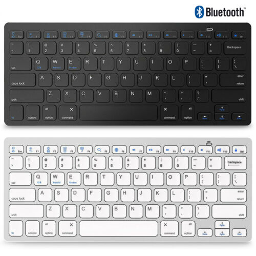 Wireless Bluetooth Keyboard For iOS Android Windows Mac OS PC Tablet Smartphone
