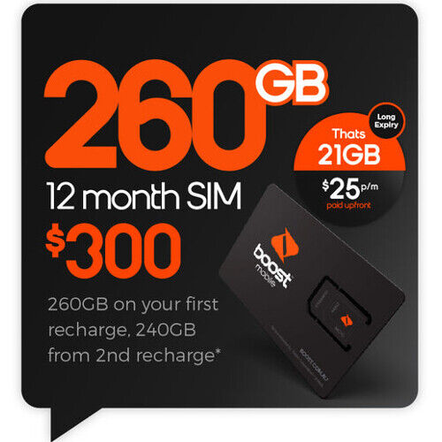 Boost $300 Prepaid Sim Card Starter Kit