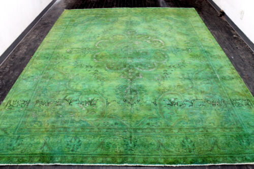 10X13 1920's SPECTACULAR HAND KNOTTED 90+YEARS ANTIQUE WOOL TABRIZZ ORIENTAL RUG