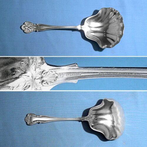 "DURGIN STERLING 8 7/8"" CRACKER SPOON ~ NEW VINTAGE ~ MONO M"