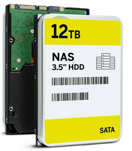 """12TB SATA 7200RPM 3.5"""" NAS HDD Comparable with Exos Enterprise ST12000NM0008"""
