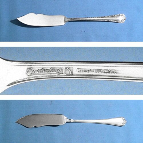 """EASTERLING STERLING 7"""" FLAT HANDLE MASTER BUTTER KNIFE ~ ROSEMARY ~ NO MONO"""