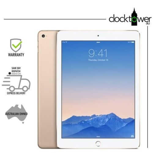"""Apple iPad Air 2 64GB 9.7"""" A1566 WiFi Gold Unlocked Good Condition NEW BATTERY"""
