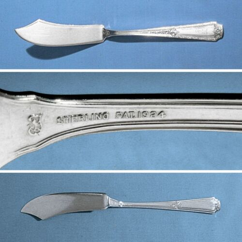 """TOWLE STERLING 6 3/4"""" FLAT HANDLE MASTER BUTTER KNIFE ~ LOUIS XIV ~ MONO F"""