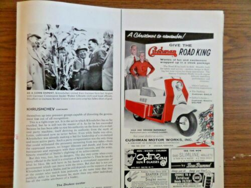 1957 Cushman Ad  Give the Cushman Road King