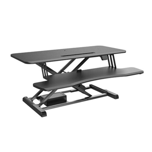 Brateck Electric Sit-Stand Desk Converter with Keyboard Tray Deck (Standard Surf