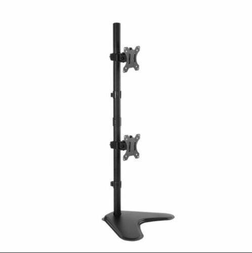 Brateck Dual Screens Economical Double Joint Articulating Steel Monitor Stand Fo
