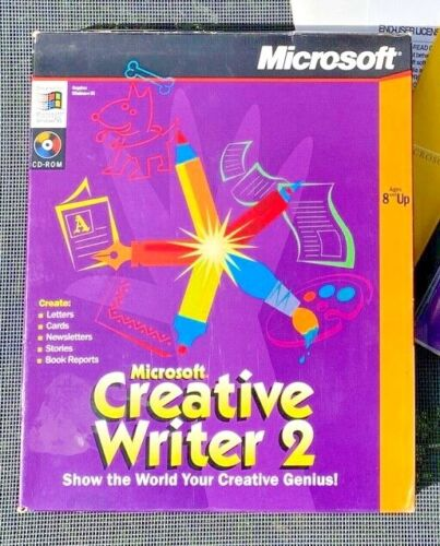 Microsoft Creative Writer 2 Windows 95: Painting Drawing Banners Publish ++ More