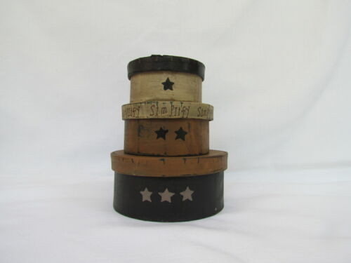Small Primitive style Simplify STACK BOX 3pc set stack boxes Collins RPM-R1 NEW