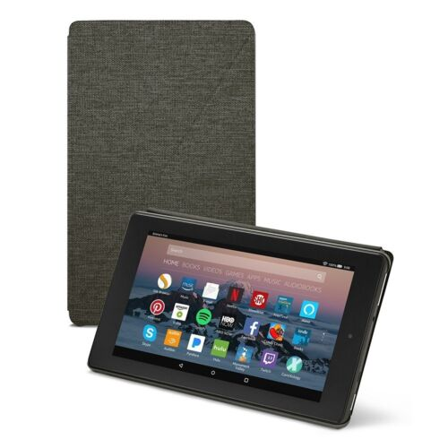 Amazon Fire 7 Tablet Case (7th Generation, 2017 Release), Charcoal Black