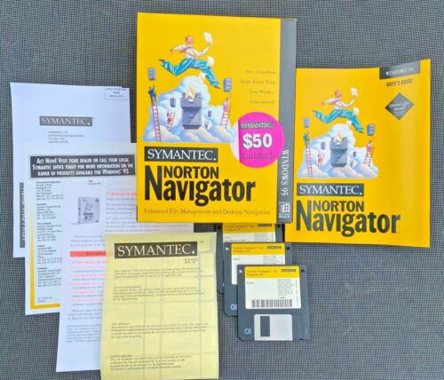 Symantec NORTON Navigator for Windows 95 - File Management & Desktop Navigation
