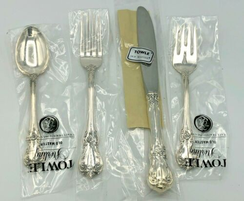 Old Master by Towle Sterling Silver 4 Piece Place Size Setting, New
